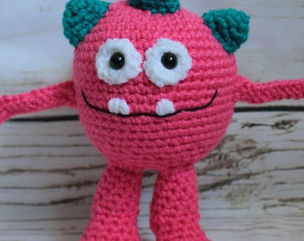 Crochet Little Monster stuffed amigurumi toy |Ready to ship or Made to order