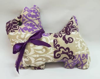"""Eggplant"" cushion"
