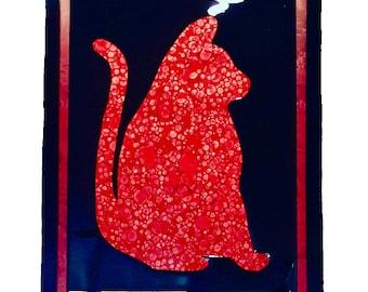 Art - Artwork - Home Decor - Decor - Kool Kitty Red Love Art