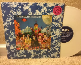 "The Rolling Stones ""Their Satanic Majesties Request"" LP Vinyl Record White Vinyl Dutch Pressing"
