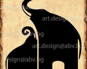 Vector  ELEPHANTS, AI, eps, pdf, svg, dxf, png, jpg Download, graphical, animal, figuration, discount coupons