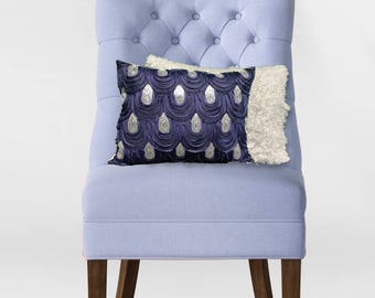 """Faux Fur/Sequin Customizable Throw Pillow With Insert 12""""x16"""", 16""""'x16"""", 18x18"""", 20""""x20"""""""