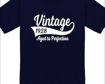 90th Birthday T Shirt Vintage 1928 T-Shirt Milestone Birthday Party Gift