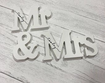 Personalised Mr & Mrs signs, Mr and Mr, Mrs and Mrs, Wedding Gift, Bride, Groom.