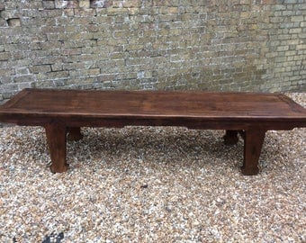 Antique c1850 Chinese rosewood oriental 8ft kang table coffee table, extra long antique coffee table, oriental table, alter table,