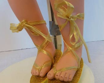 Golden Sandals for Whimsies Betty The Beauty