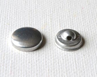 Round buttons cover diameter 27 mm set of 5