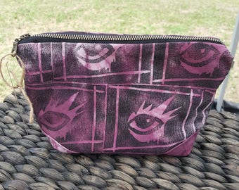 Eye Zippered Pouch - Makeup Bag - Toiletry Bag - Travel Bag - Cosmetic Bag - Pencil Case