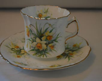 Hammersley of England Daffodil Cup and Saucer