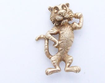 Tony the Tiger brooch detailed gold tone dimensional figural AA516