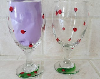 Ladybug - Wine Glasses