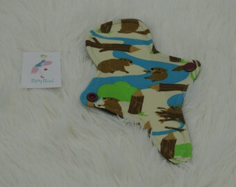 """7"""" Thong Liner Beaver Jersey CSP Cloth pad (2"""" snapped) thin discrete fleece back daily liner"""