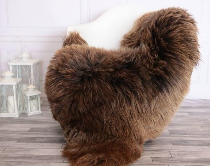 Sheepskin Rug | Real Sheepskin Rug | Shaggy Rug | Scandinavian Rug | | SCANDINAVIAN DECOR | brown Sheepskin  #FEBHER10