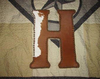 Cowhide Letter H