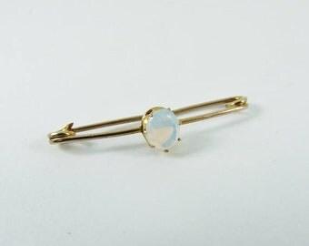 15% SALE - Edwardian 9ct 9k Gold Opal Brooch