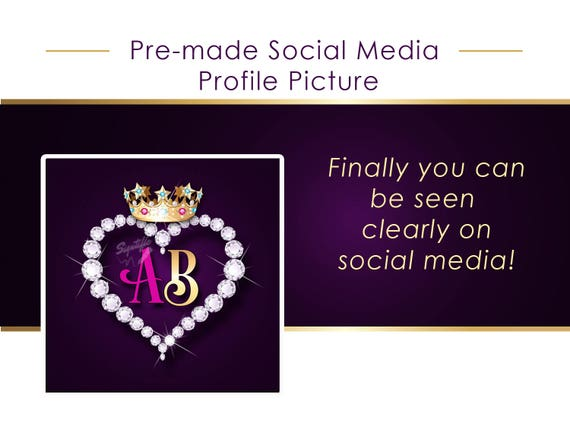 Premade Facebook Profile Picture, Business Initials Avatar, Instagram Profile Picture, Social Media Avatar, Twitter Profile Picture Icon