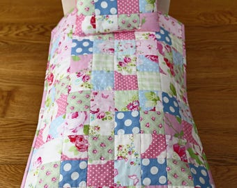 American Girl Doll Quilt, Doll Bedding, Mini Quilt, Doll Accessory, Doll Pillow, Doll Blanket, Handmade Patchwork Quilt, Quilts For Dolls