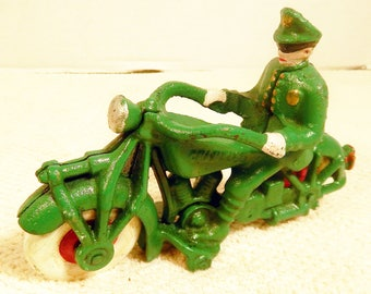 1940's Cast Iron Champion Police Motorcycle