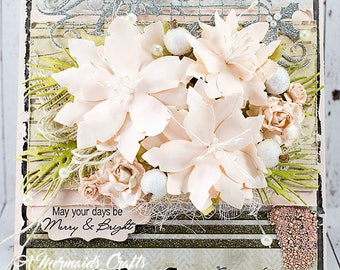 Shabby Chic May Your Days Be Merry & Bright Christmas / Holidays Greeting Card