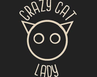 Crazy Cat Lady Vinyl Decal - Cat Decal - Car Decal - Window Decal - Cat Owner Sticker - Cat Lady Decal - Feline Car Decal