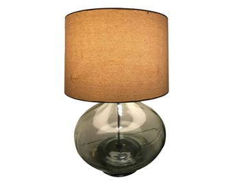 Extra Large Glass Table Lamp Vintage Bottle Table Lamp Onion Lamp Living Room