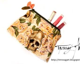 Makeup / school - skull - romantic rose - pink