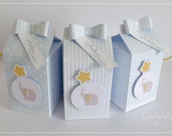 Boxes Milk Box-Baby milk-blue-elephant-star-confetti