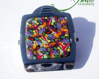 magnet/wholesale magnet clip millefiori multicolor fimo 5 * 4cm