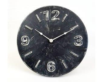 Distressed wall clock. Rustic wall clock. Farmhouse wall clock. Silent wall clock. 13 inch wall clock.  CL5030