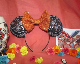 Day of the Dead Skull Coco Inspired Mouse Ears / Headband