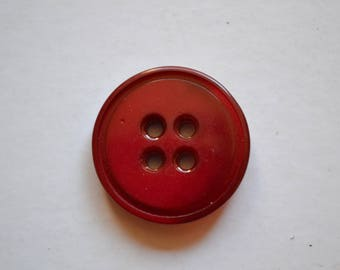 solid 25mm 4 hole round button