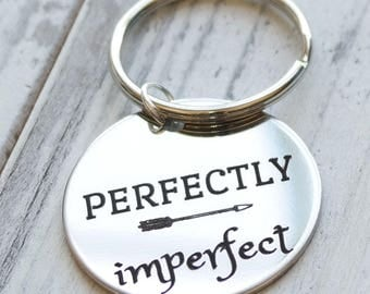 Perfectly Imperfect Personalized Key Chain - Engraved
