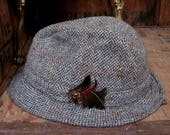 Dunn  Co Trilby Herringbone Trilby Mens Trilby Hat Trilby Hat Vintage Trilby Vintage Hat Mans Trilby Made In England Grey Hat