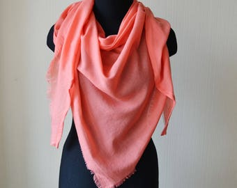 birthday gift|for|her pink scarf cotton scarf wife gift girlfriend gift scarf shawl womens gift womens scarves unique scarf soft scarf