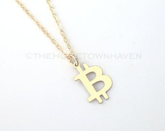 Bitcoin Necklace - Bitcoin Charm, Cryptocurrency jewelry, Bitcoin
