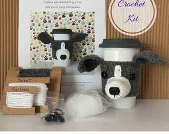 Crochet Kit - Amigurumi Kit - Crochet Pattern Dog - Crochet Starter Kit - Crochet Gifts - Crochet Dog Pattern - Dog Crochet Pattern