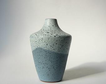 Töpferhof Römhild Siegfried Gramann Blue Vase East German Pottery Romhild