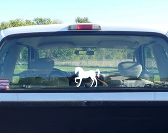 horse decal, horse sticker, horse riding, horse gift idea, horse label, vinyl horse decal, white horse, horse lover, horse memorial