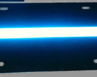 Thin Blue Line Reflective License Plate
