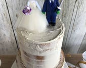 Hello Kitty Bride and Ninja Turtle Groom Wedding Cake Topper