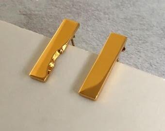 Gold geometric earrings - Minimalist gold earrings