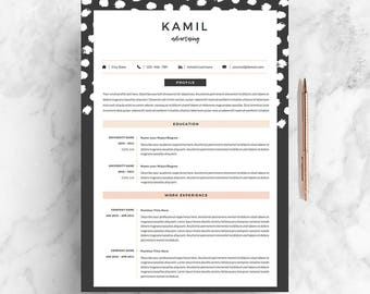 "4 page Resume /  CV Template + Cover Letter for MS Word | Instant Digital Download | The ""Spot-On"""