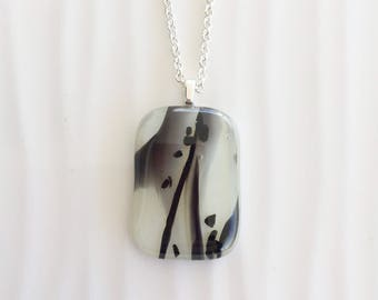 Sprinkle striped pendant necklace vanilla