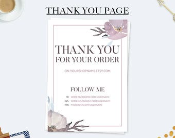 Marketing cards, thank you for your purchase cards, thank you for your order, thank you notes, etsy seller cards, business thank you cards
