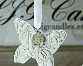 Butterfly Ornament, Memorial Ornament,  Sympathy Gift, Condolence Gift, Bereavement Gift, Lost Loved One, Signs from Heaven, Christmas