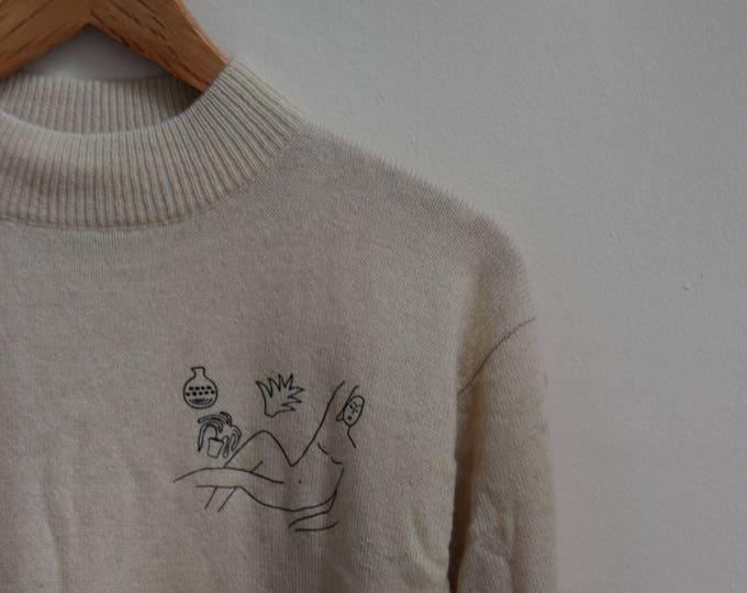 Wilson Cream Mock Neck Sweater.