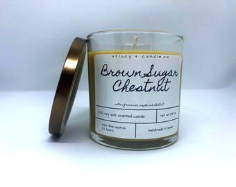 Brown Sugar Chestnut Soy Scented Candle | Christmas Candle | Winter Candle | Holiday Candle | Gift for Her | Maple