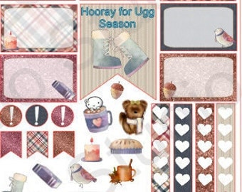 Sweater weather weekly planning decorating kit