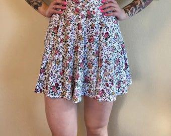 Vintage Floral Skater Skirt