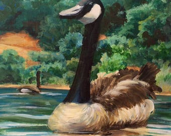 Canada Goose Original Acrylic Painting